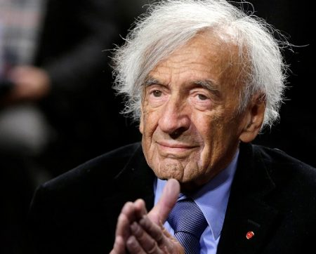 "Nobel Peace Laureate Elie Wiesel is seen before participating in a roundtable discussion on ""The Meaning of Never Again: Guarding Against a Nuclear Iran"" on Capitol Hill in Washington March 2, 2015. REUTERS/Gary Cameron/File Photo"
